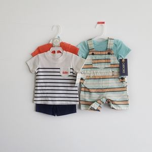 Other - ▪Carter + Cherokee▪Bundle of Two Baby Boy Outfits